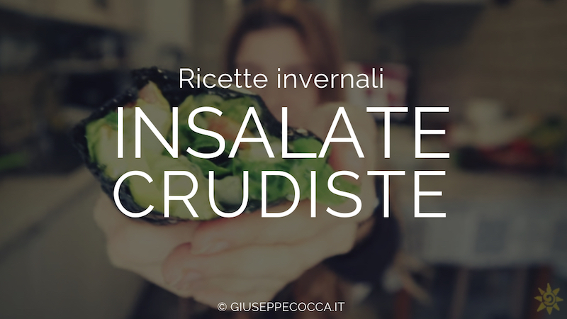 3 video ricette di insalate crudiste e vegane per l'inverno.